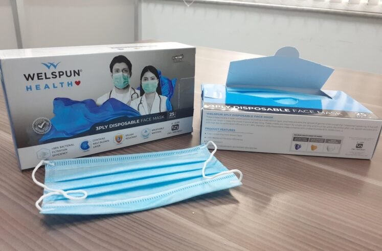 Welspun, first Indian Company to receive US FDA 510(k) for its 3 Ply Surgical Masks
